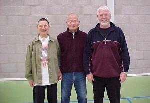 Foto Ben Lo samen met Hans en Nellie